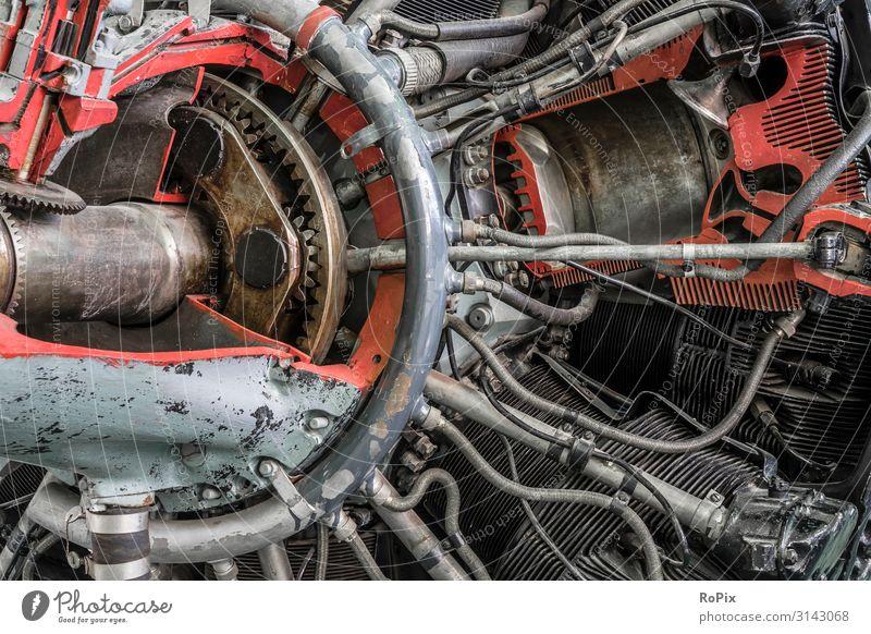 Schnittmodell eines historischen Flugzeugtriebwerks. Lifestyle Design Freizeit & Hobby Modellbau Bildung Wissenschaften Arbeit & Erwerbstätigkeit Beruf