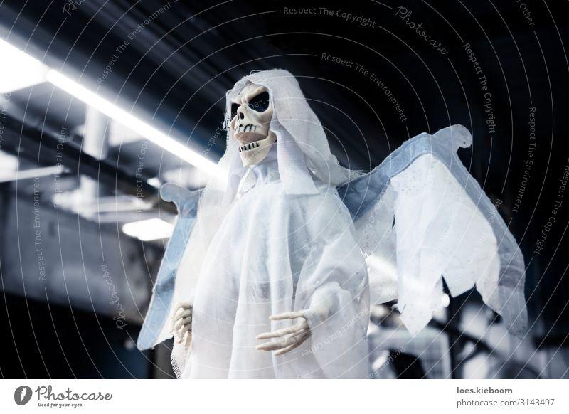 Skeleton ghost puppet as decoration for halloween Ferien & Urlaub & Reisen Halloween Bekleidung gruselig Wut träumen Angst Todesangst Tradition skeleton dead