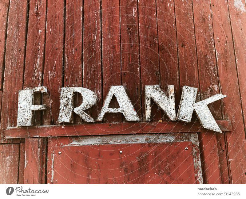 REICHFURT - Buchstaben Typografie Verfall Holz Stadt weiß rot Haus Wand Stil Zeit Mauer Fassade Design retro Schriftzeichen dreckig trist ästhetisch