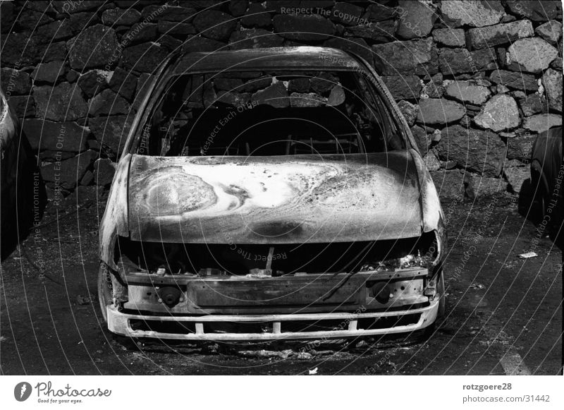 Schrottmobil Winter oben PKW obskur Gomera