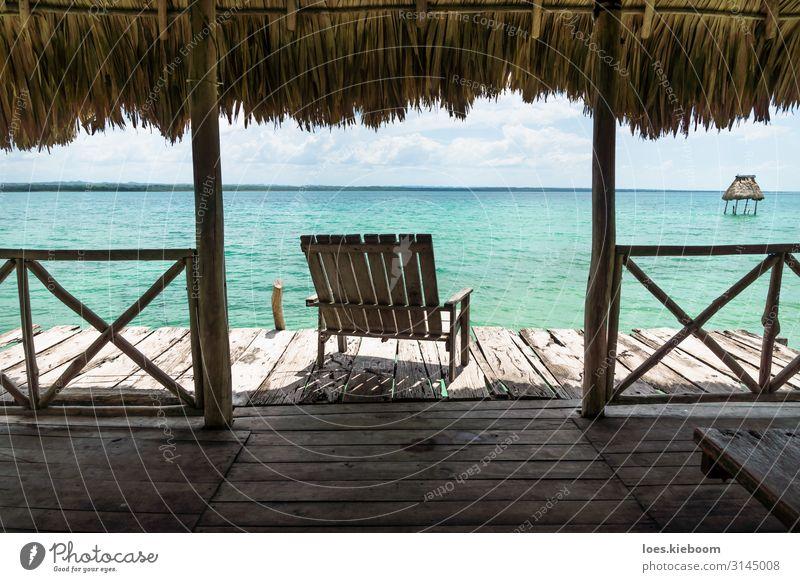 Dock with chair at lake Itza Wellness harmonisch Erholung ruhig Meditation Ferien & Urlaub & Reisen Tourismus Abenteuer Ferne Freiheit Sommer Sonne Strand Natur