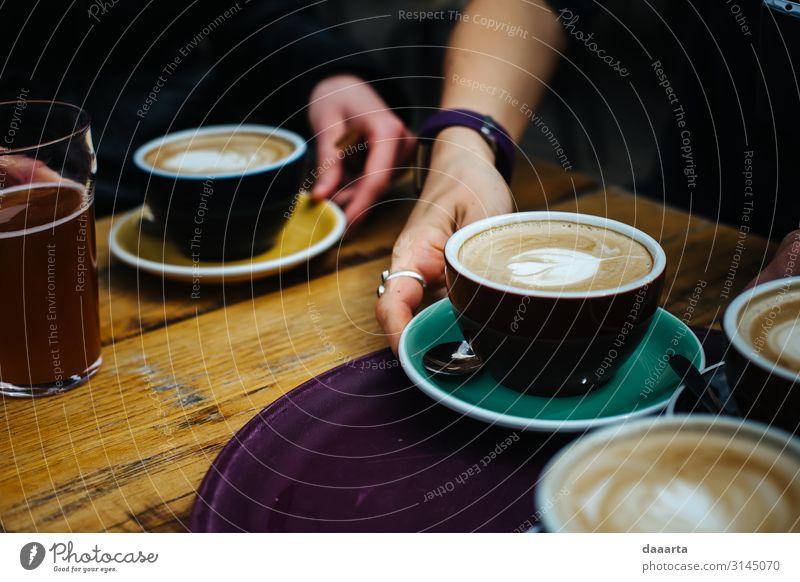Hand Freude Lifestyle Leben Gefühle Feste & Feiern Stil Freundschaft Stimmung Häusliches Leben Freizeit & Hobby Tisch Fröhlichkeit Küche Kaffee Getränk