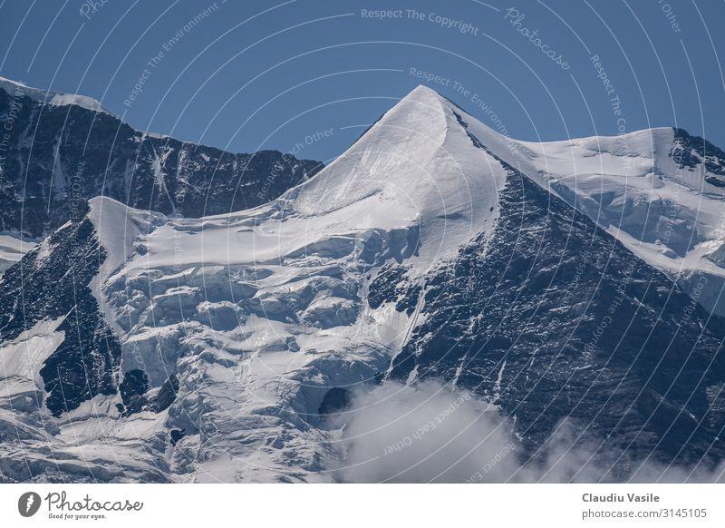 Silberhorn Berg, eine Schneepyramide Ferien & Urlaub & Reisen Tourismus wandern Landschaft Sommer Winter Klimawandel Schönes Wetter Nebel Eis Frost