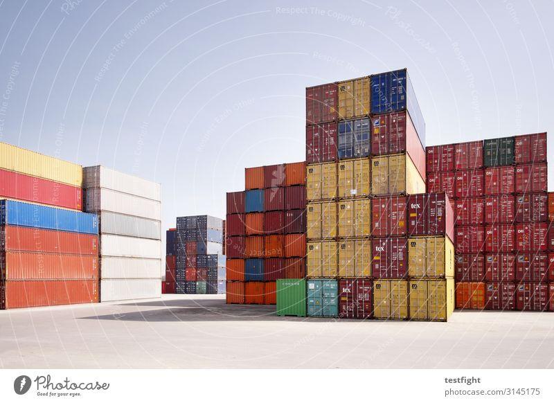 container Arbeitsplatz Handel Güterverkehr & Logistik Verkehr Verkehrswege Arbeit & Erwerbstätigkeit Business Reichtum Container Ware liefern Lager