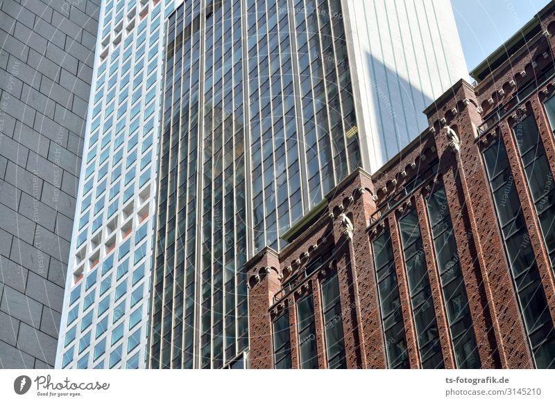 Fassaden ohne Kletterer Reichtum Ferien & Urlaub & Reisen Tourismus Städtereise New York City USA Stadtzentrum Skyline Menschenleer Haus Hochhaus Bankgebäude