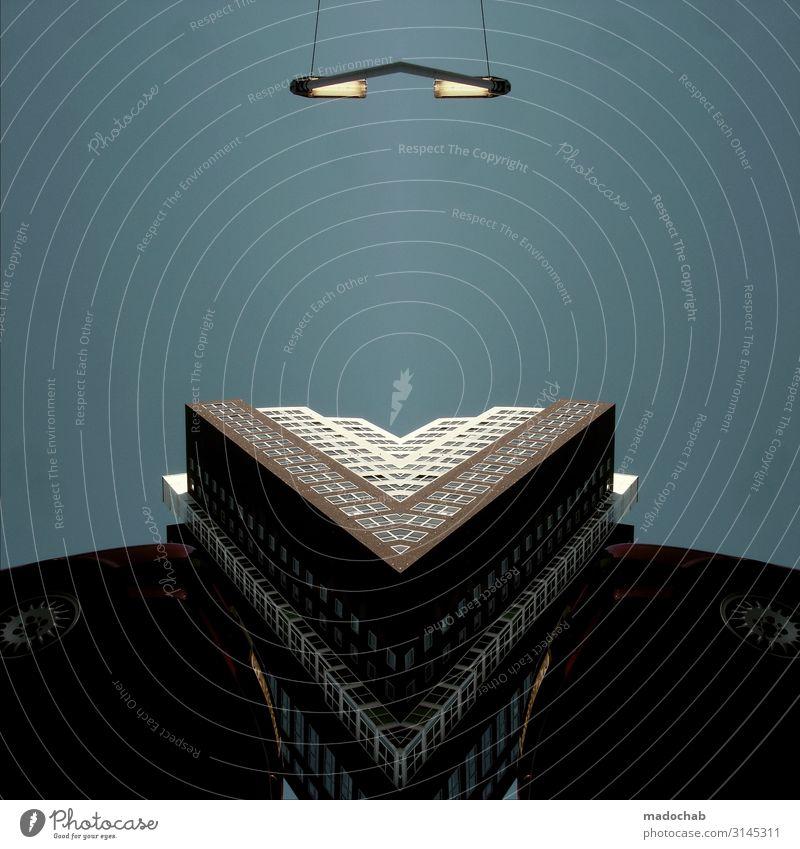 Das Schweigen der Lämmer Stadt Haus Ferne Architektur Gebäude Zufriedenheit Hochhaus elegant Technik & Technologie Kraft Ordnung Erfolg Zukunft Coolness Skyline