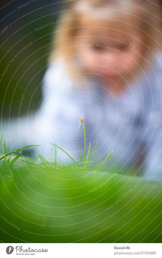 die kleinen Dinge im Leben... Spielen Mensch feminin Kind Kleinkind Mädchen Kindheit Kopf Gesicht Auge 1 1-3 Jahre Kunst Kunstwerk Gemälde Umwelt Natur Klima