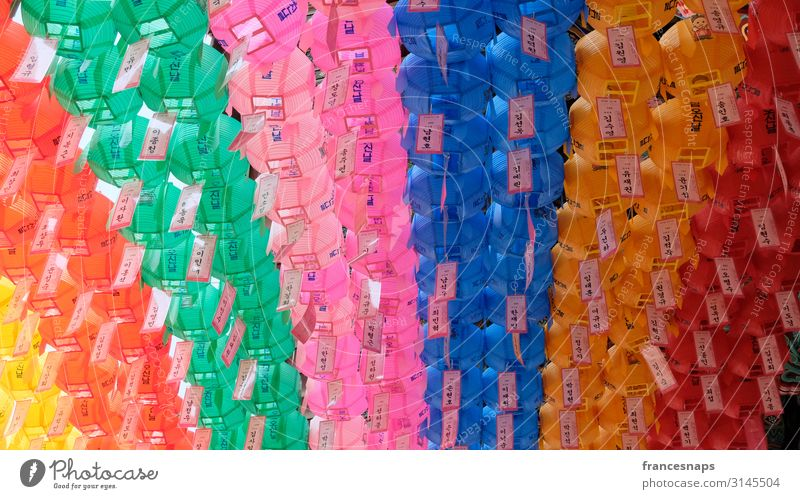 Koreanische Laternen im Jogyesa-Tempel Lifestyle Glück Ferien & Urlaub & Reisen Tourismus Ausflug Abenteuer Sightseeing Städtereise Kunst Kultur Printmedien