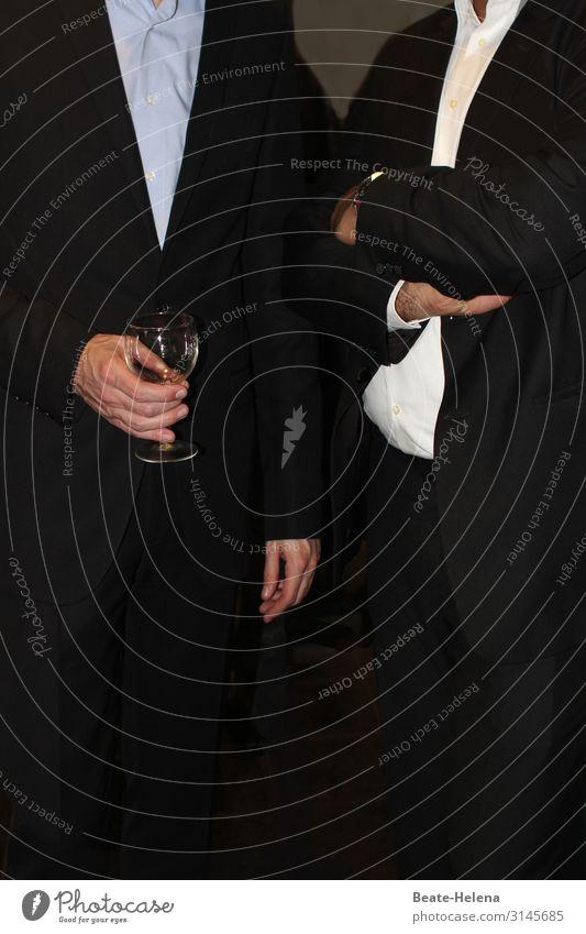 Business-Attitude Wein Glas Stil Wirtschaft Karriere Sitzung sprechen Bekleidung Arbeitsbekleidung Hemd Anzug Zeichen Arbeit & Erwerbstätigkeit beobachten
