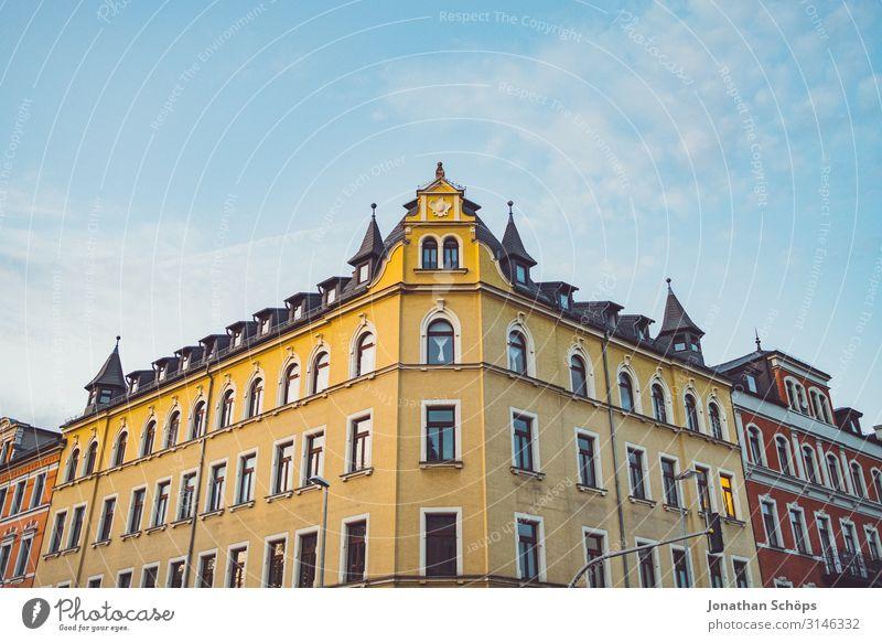Häuserfassade in Chemnitz ruhig Häusliches Leben Wohnung Hausbau Umzug (Wohnungswechsel) Herbst Stadt Stadtzentrum Skyline bevölkert Bauwerk Gebäude Architektur