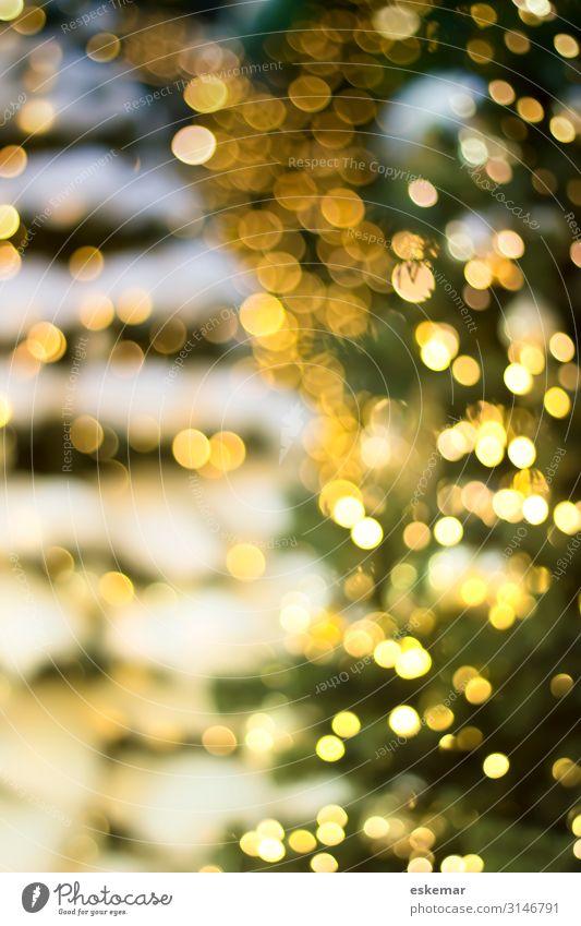 Bokeh weihnachtlicher Hintergund Design Feste & Feiern Weihnachten & Advent Weihnachtsbaum geschmückt Kunst Dekoration & Verzierung Christbaumkugel