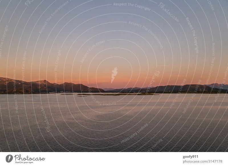Der Tag geht zu Ende Ferien & Urlaub & Reisen Ausflug Abenteuer Ferne Freiheit Sightseeing Expedition Natur Landschaft Wasser Himmel Wolkenloser Himmel Horizont