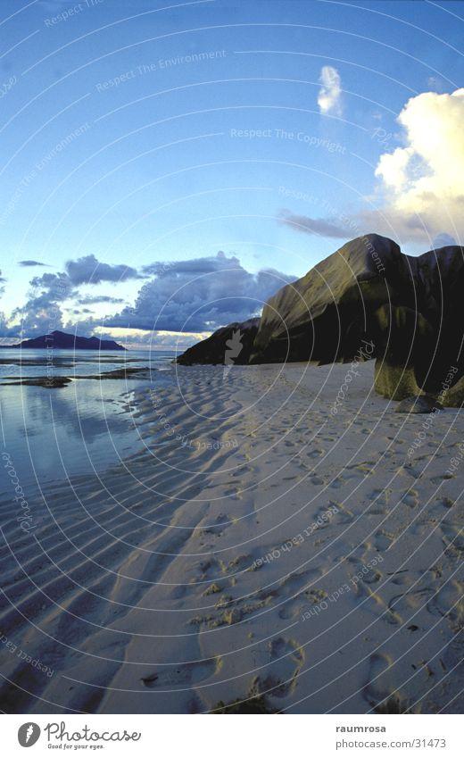 Blue Beach Meer Strand Stimmung Seychellen Gesteinsformationen La Digue