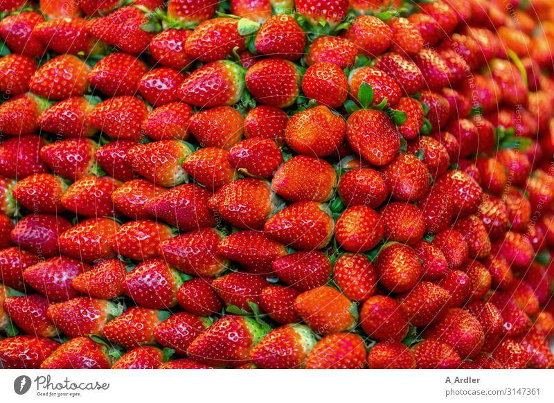 reife Erdbeeren im Stapel satt Lebensmittel Ernährung Büffet Brunch Festessen Geschäftsessen Bioprodukte Vegetarische Ernährung Diät Slowfood Fingerfood