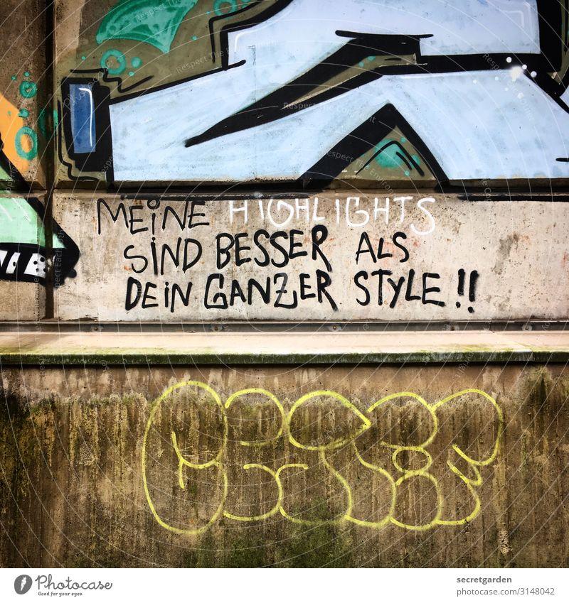 UTHH19_Immer diese Vergleiche... Stil Kunst Kunstwerk Subkultur Mauer Wand Beton Zeichen Schriftzeichen Graffiti Aggression rebellisch verrückt selbstbewußt