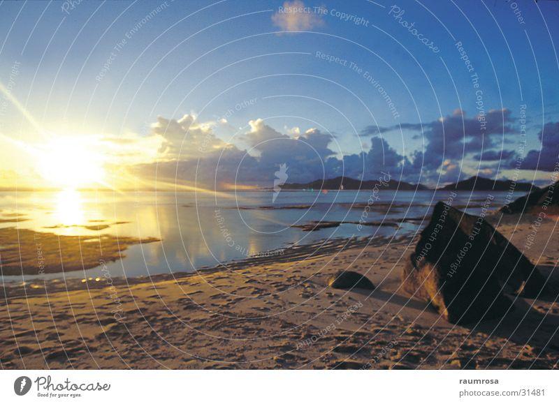 Sunsetbeach Seychellen Strand Sonnenuntergang Ferien & Urlaub & Reisen