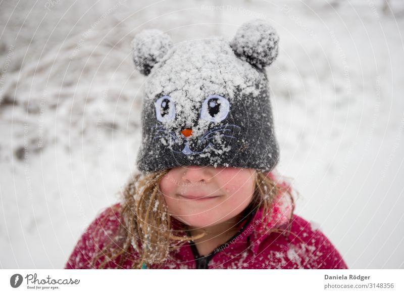 Spaß im Schnee Kind Mensch Natur Weihnachten & Advent Freude Winter Mädchen feminin Glück Spielen Freiheit Ausflug Zufriedenheit Freizeit & Hobby Eis