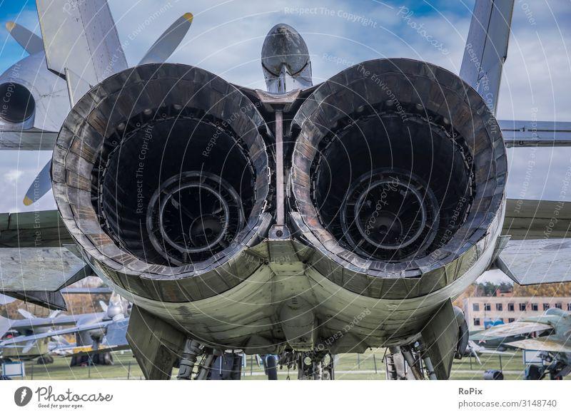 Rückseite eines Strahltriebwerks eines Kampfflugzeugs. Design Modellbau Ferien & Urlaub & Reisen Tourismus Sightseeing Städtereise Bildung Wissenschaften