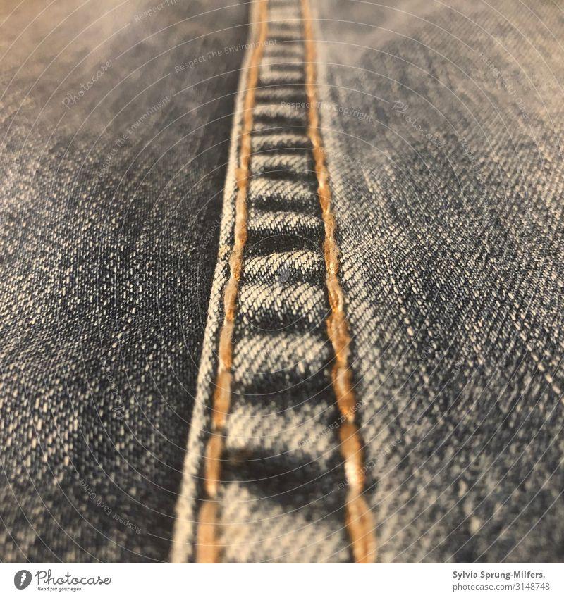 Nahtlos Jeanshose Linie einfach trendy blau loyal Zusammensein Treue Verlässlichkeit gewissenhaft geduldig ruhig Ausdauer Ordnungsliebe Langeweile Sehnsucht