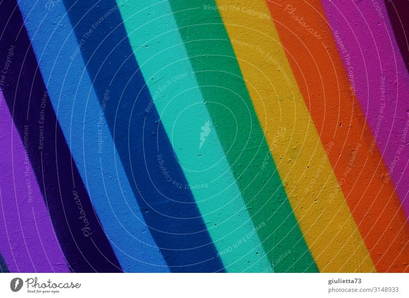 Alle meine Lieblingsfarben... lila, blau, türkis, grün, gelb, orange, pink Mauer Wand Unendlichkeit positiv mehrfarbig Kreativität Graffiti Farbenspiel