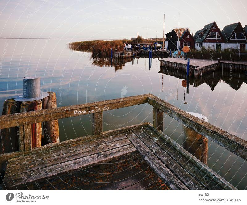Privatbank Himmel Natur Wasser Haus Wolken ruhig Ferne Holz Herbst Umwelt Horizont Schriftzeichen Luft Idylle Sträucher Schönes Wetter