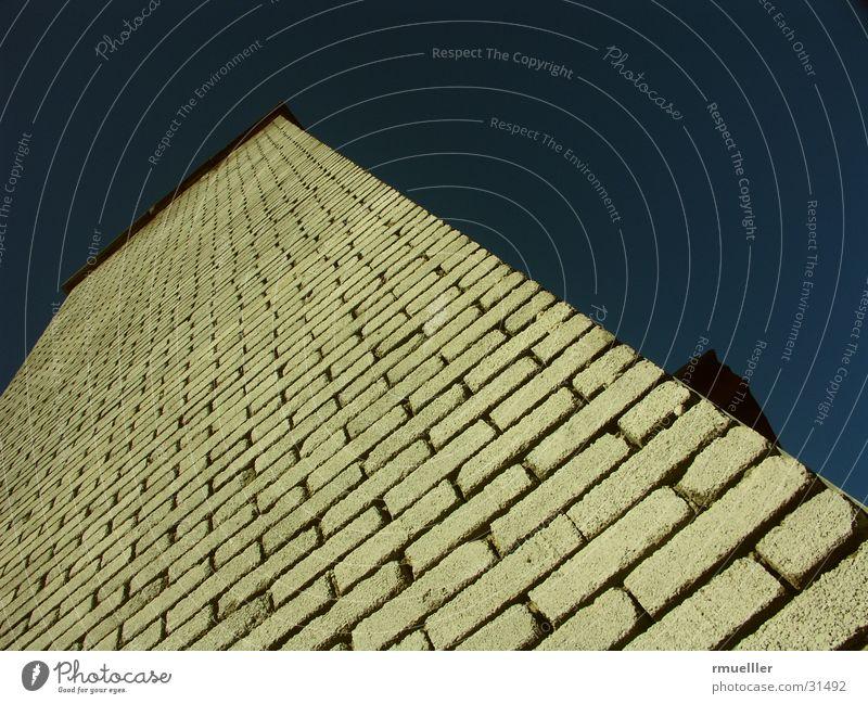 The Wall Himmel Haus Wand Gebäude Architektur Backstein