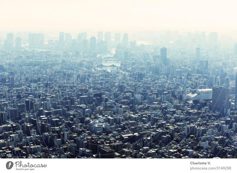 Weite II Tokyo Japan Asien Hauptstadt Stadtzentrum Skyline Haus Hochhaus Stein Beton Glas fantastisch gigantisch Unendlichkeit hoch kalt oben unten viele blau