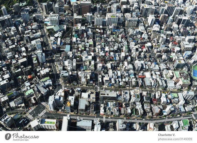 Klötzchen Tokyo Japan Asien Hauptstadt Stadtzentrum Haus Hochhaus Stein Beton außergewöhnlich eckig hoch klein modern oben unten viele mehrfarbig Konzentration