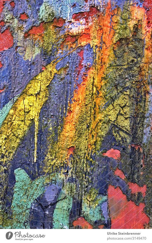 Farbenfroh Stil Design Kunst Hamburg Hafenstadt Platz Metall Stahl Rost Graffiti alt leuchten fantastisch frech trendy modern Originalität trashig Stadt dumm
