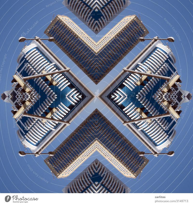 Mosaik Dubai VAR Vereinigte Arabische Emirate Composing Kaleidoskop Setzkasten Phantasie Hochhaus Architektur Bild Muster Weltausstellung 2022 UFO Raumfahrzeuge