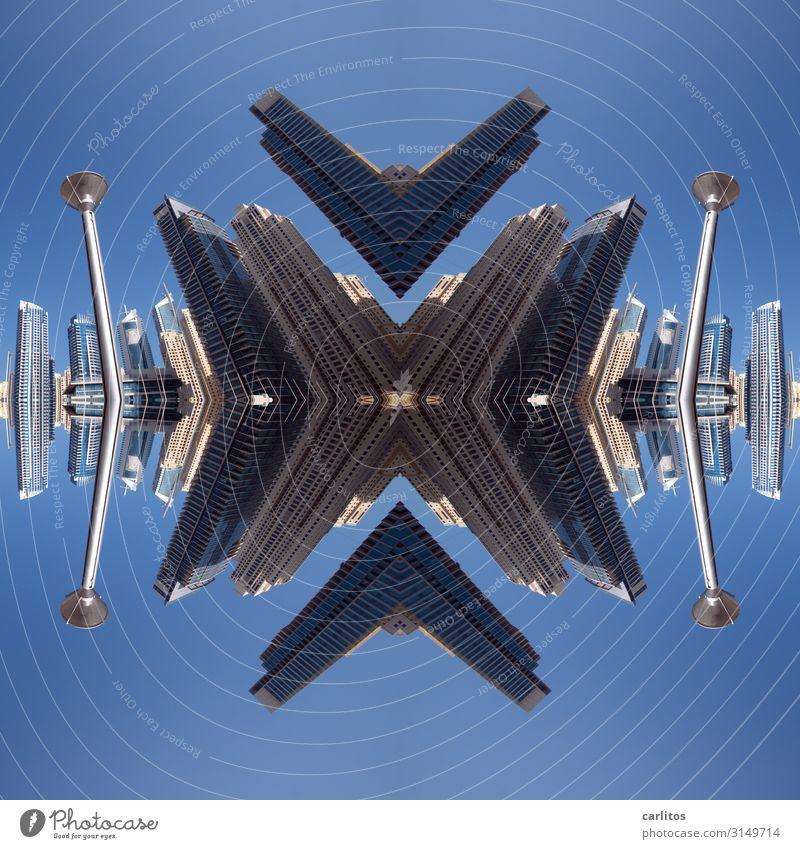 Metaphysischer Madoismus 2.0 Hochhaus Reflexion & Spiegelung Größe gigantisch fremd Dubai Composing Symmetrie UFO Raumfahrzeuge Star Wars außerirdisch bauen
