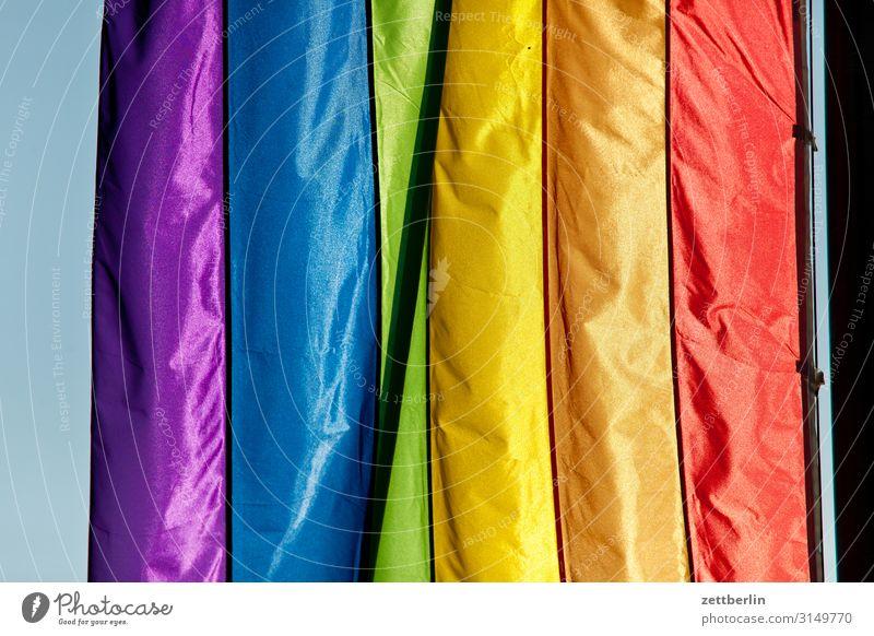 Regenbogenfarben mehrfarbig Fahne Farbe Farbkarte Farbskala Farbbrillianz Farbwert Farbenspiel Farbverlauf regenbogenfarben Regenbogenflagge Regenbogentuch