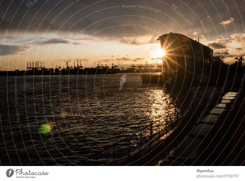 Sundowner | UT HH19 Sonnenaufgang Sonnenuntergang Sonnenlicht Freude Glück Zufriedenheit Lebensfreude ästhetisch Erholung Hamburg Hafen Hafenstadt