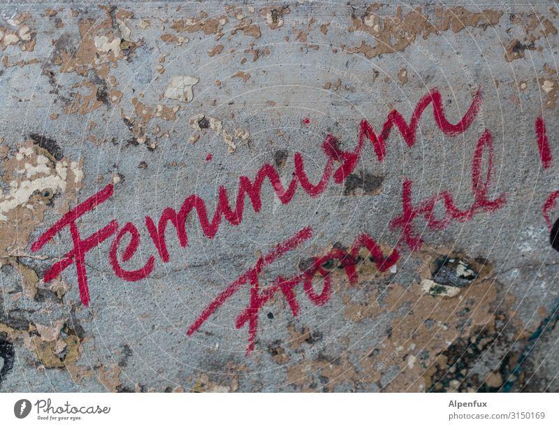 Feminism Frontal ! UT HH19 Schriftzeichen Graffiti Kraft Willensstärke Mut Tatkraft Gerechtigkeit Fairness anstrengen Ärger Zufriedenheit Entschlossenheit