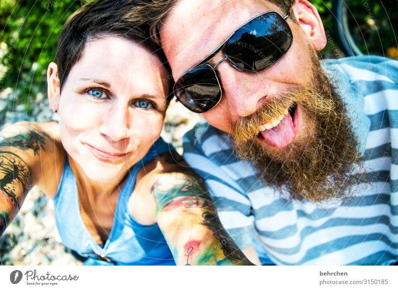 auf ein verrücktes neues! Frau Erwachsene Mann Eltern Familie & Verwandtschaft Paar Partner Haut Kopf Haare & Frisuren Gesicht Auge Ohr Nase Mund Lippen Zähne