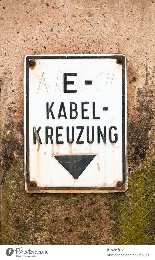 AR(E)S-CH KABEL-KREUZUNG | UT HH19 Zeichen Schriftzeichen Schilder & Markierungen Hinweisschild Warnschild hängen Sicherheit gefährlich Energie bedrohlich