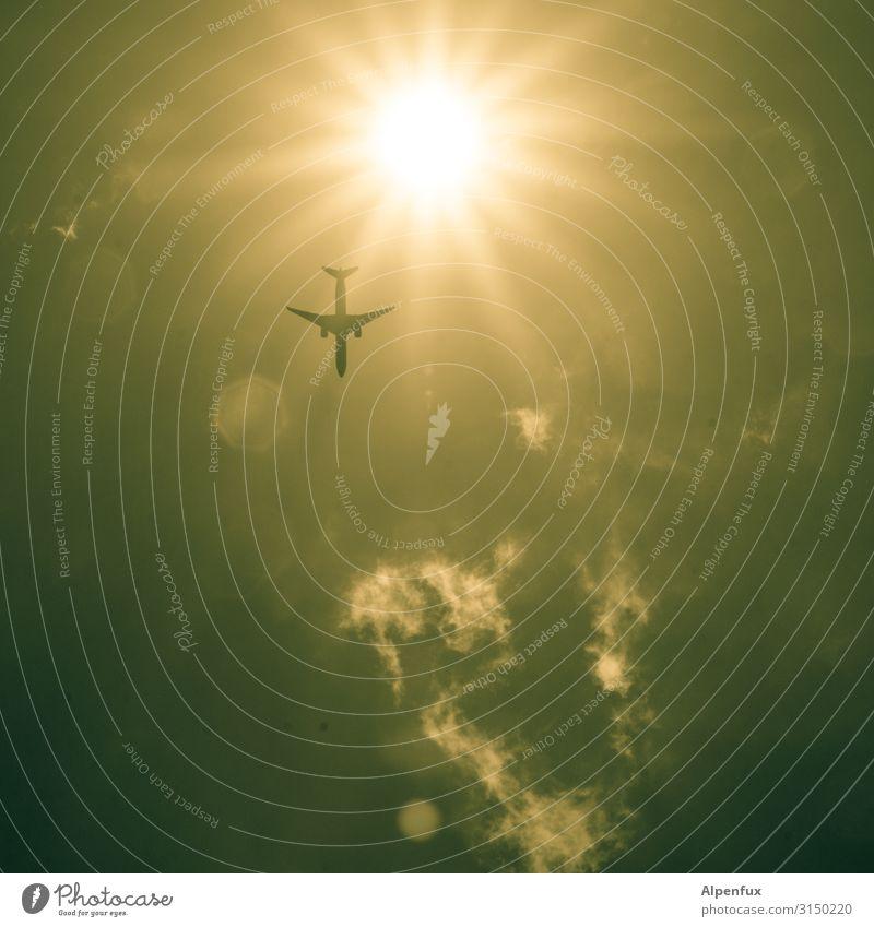 Ikarus Ferien & Urlaub & Reisen Umwelt Tourismus Freiheit Tod fliegen Angst Luftverkehr Zukunft Energie Klima Flugzeug bedrohlich Sicherheit Zukunftsangst