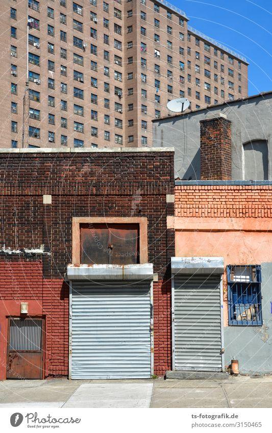 Ladenschluss in New York Ferien & Urlaub & Reisen Städtereise Häusliches Leben Wohnung Haus New York City Brooklyn Stadt Stadtzentrum Menschenleer Hochhaus