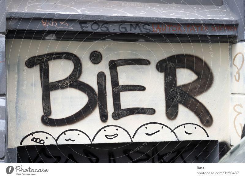 Bier Schriftzeichen Schilder & Markierungen Hinweisschild Hamburg Smiley