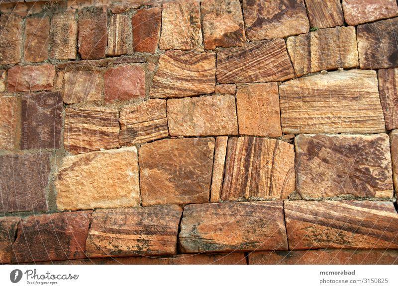 Ankleidestein-Muster Design schön Stein rot Ordnung Platten Blöcke Keile Granit Sandstein angekleidet Kornstruktur Partikel Streusel Konsistenz Oberfläche