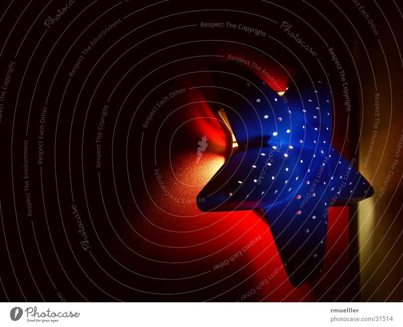 Sternenhimmel IV Licht Lampe rot Stimmung Häusliches Leben Stern (Symbol) Beleuchtung blau