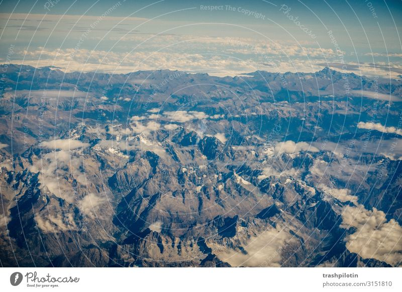 französische Alpen Ferien & Urlaub & Reisen Tourismus Ausflug Abenteuer Ferne Freiheit Berge u. Gebirge wandern Umwelt Natur Landschaft Urelemente Erde Hügel