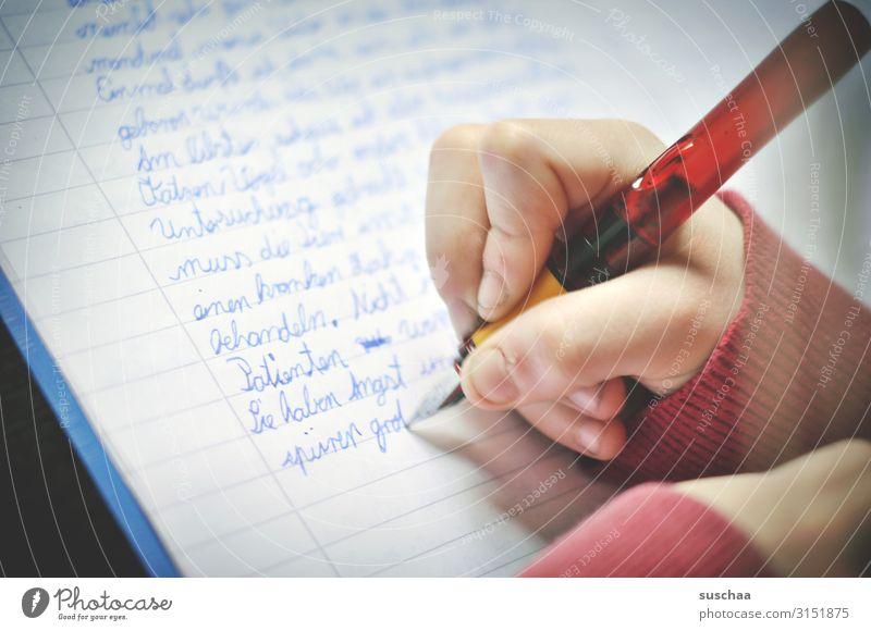 hausaufgaben (3) Hausaufgabe Schule lernen Bildung leisten Schulbildung klug lesen schreiben Grundschule Schulkind Kindheit Schüler Schulzeit Drill