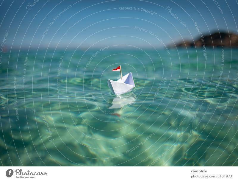 Ab auf die Insel Kind Ferien & Urlaub & Reisen Natur Sommer blau grün Sonne Meer Erholung ruhig Ferne Strand Gesundheit Spielen Schwimmen & Baden Ausflug