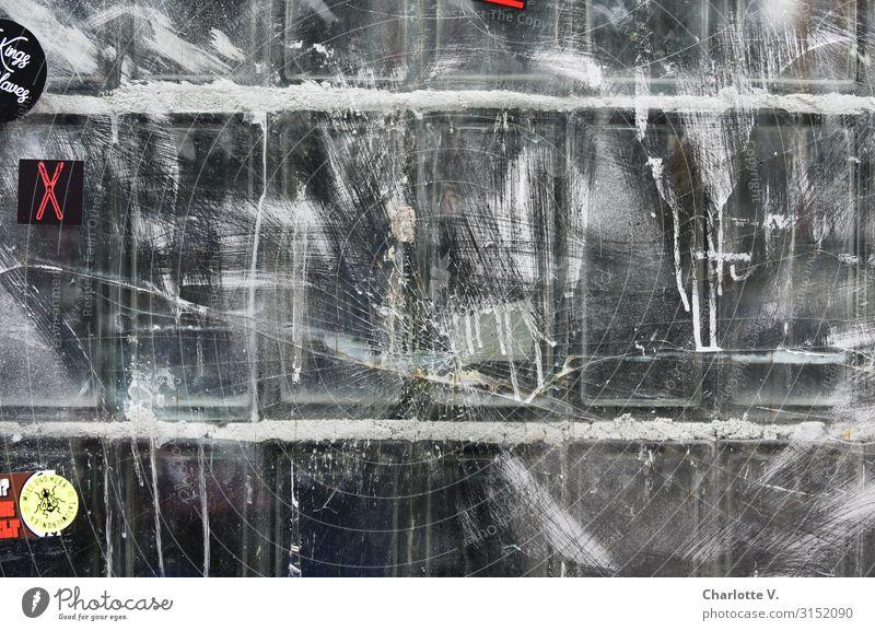 Hamburger Textfreiraum   UT HH19 Kunst Subkultur Fenster Glasbaustein Schriftzeichen alt außergewöhnlich dreckig authentisch einfach fest trendy kalt trashig