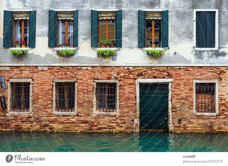 Historische Gebäude in der Altstadt von Venedig in Italien Erholung Ferien & Urlaub & Reisen Tourismus Haus Wasser Stadt Architektur Fassade Sehenswürdigkeit