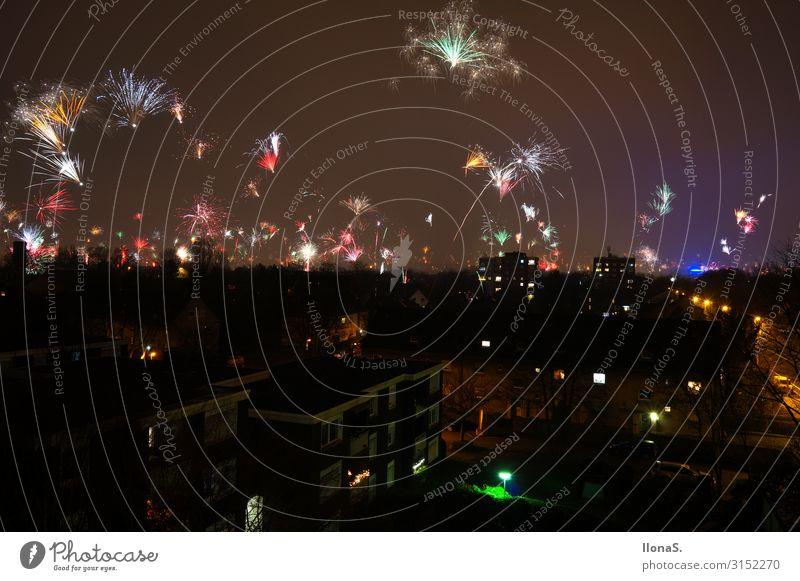 Prost Neujahr Nachtleben Entertainment Party Veranstaltung Musik Feste & Feiern Silvester u. Neujahr Landschaft Himmel Nachthimmel Horizont Bauwerk Gebäude