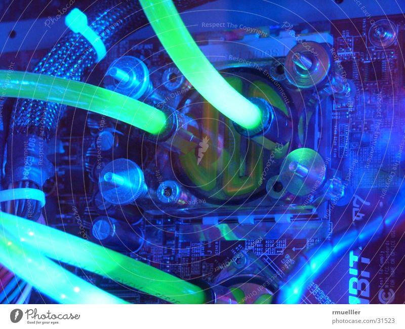 watercooled Computer Wasserkühlung Langzeitbelichtung Makroaufnahme Elektrisches Gerät Technik & Technologie Modding Farbe