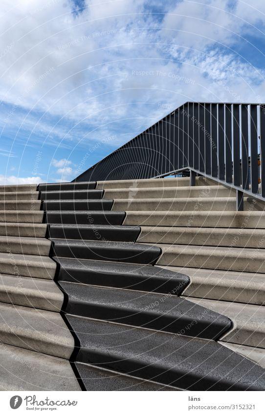 Hochwasserschutz Hamburg Hamburger Hafen Stadt Hafenstadt Mauer Wand Treppe Entschlossenheit bedrohlich Hoffnung Überleben Geländer Flutschutzanlage Klimawandel