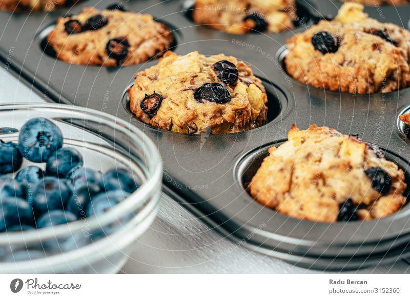 Heidelbeere und Apfel Fruchtige Cupcakes Muffins Rezept frisch Dessert gebastelt Snack Kuchen Bäckerei Nahaufnahme Hintergrundbild Hundefutter Feinschmecker